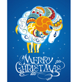 New year card with sheep vector image vector image