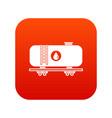 oil railway tank icon digital red vector image vector image
