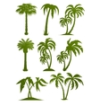 Palm tree silhouettes vector | Price: 1 Credit (USD $1)