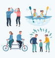 people fighting and quarrelling making a loud vector image vector image