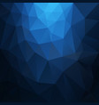 polygonal square background deep blue vector image vector image