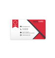 red black modern creative business name card vector image