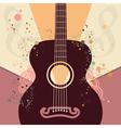 Retro Guitar Poster vector image vector image