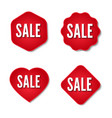 sale stickers collection set of promotional vector image vector image