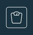 scales icon line symbol premium quality isolated vector image