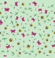 seamless background of cartoon insects vector image