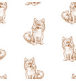 seamless background sketches sitting spitz vector image