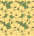 seamless pattern hibiscus flowers floral vector image vector image