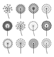 Set of stylized dandelions vector image vector image