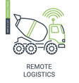 smart remote logistics icon with editable stroke vector image