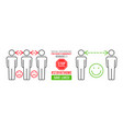 social distancing infographics vector image vector image