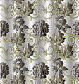 Stylish floral vintage seamless pattern vector image vector image