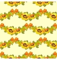 sunflower and bow seamless pattern bacground vector image vector image