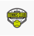 tennis club badge logo-11 vector image vector image