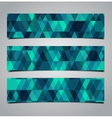three geometric banners vector image