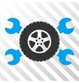 Tire Service Wrenches Icon vector image vector image