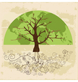 Tree world concept vector image vector image