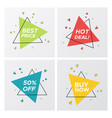 triangle flat sale tags in bright pop art style vector image vector image