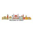 turkey outline skyline turkish flat thin line vector image vector image