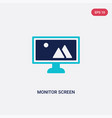 two color monitor screen icon from computer vector image vector image