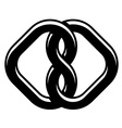 unity knot black white symbol vector image vector image