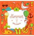 vacation summer travel beach elements vector image