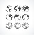 Vecrot globe icon set vector