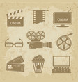 video icon cinema sign vector image vector image