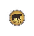 vintage bear badge emblem logo design inspiration vector image