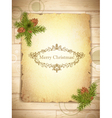 vintage grunge paper with christmas greetings in vector image vector image