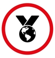 World Medal Flat Rounded Icon vector image vector image
