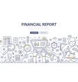 Financial Report Doodle Concept vector image