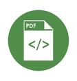 pdf file icon vector image