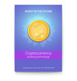 poster with advertisement of virtual currency vector image