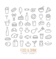 Flat food icons vector image