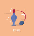 great perfume in paris franch design vector image