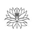 lotus flower icon on white background yoga symbol vector image