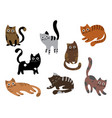 a set cats a collection cartoon kittens of vector image vector image