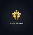 abstract tree decoration gold logo vector image