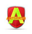 antivirus icon vector image