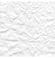 background white crumpled paper vector image