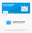 blue business logo template for interface website vector image