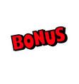 bonus text letter icon isolated sticker badge logo vector image vector image