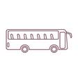 bus flat icon vector image