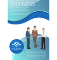 business company poster vector image