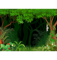 Cartoon of forest background vector image