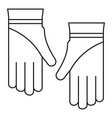 cleaning gloves icon outline style vector image vector image