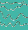 color hand-drawing wave sea background abstract vector image vector image
