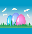 composition easter eggs holiday background vector image vector image