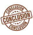 conclusion brown grunge round vintage rubber stamp vector image vector image